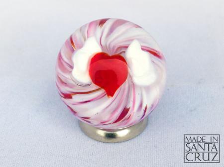 david salazar art glass heart marble