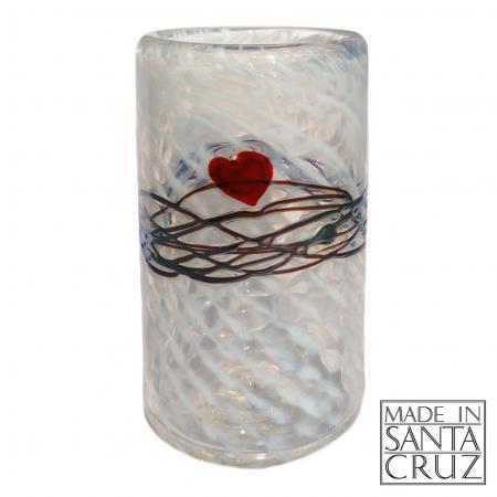 david salazar art glass heart tumbler