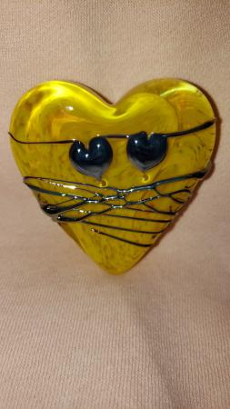 heart yellow w silver and hearts