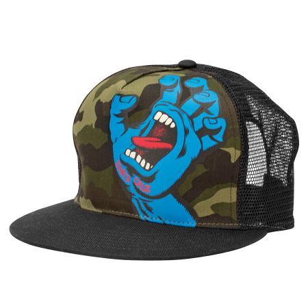 screaming hand mesh trucker hat snapback
