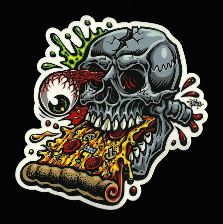 pizza skull sticker decal jimbo phillips