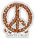 decal peace monarch butterfly sticker eric berg