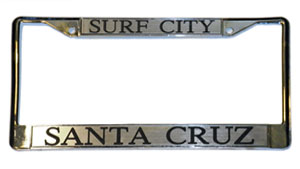 Santa Cruz License Plate Frame