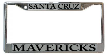 Santa Cruz Mavericks License Plate Frame