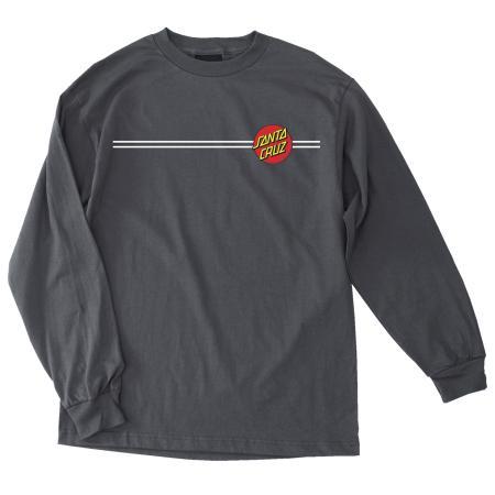 Mens T-shirt Long Sleeve Santa Cruz Classic Dot (Black)