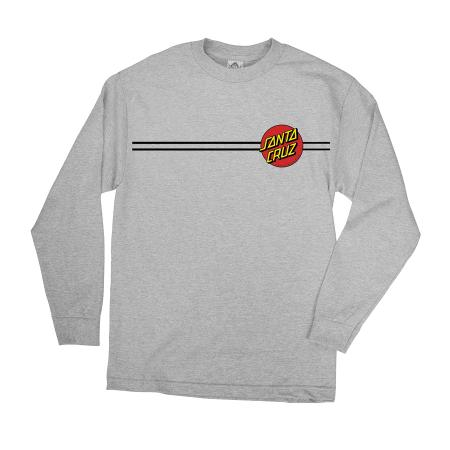 Mens T-shirt Long Sleeve Santa Cruz Classic Dot (Charcoal)