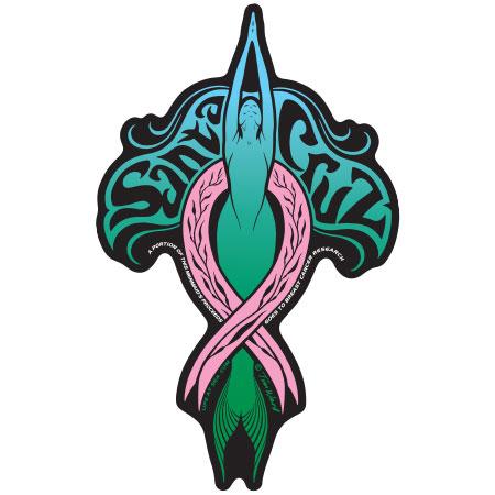 santa cruz sticker breast cancer mermaid tim ward