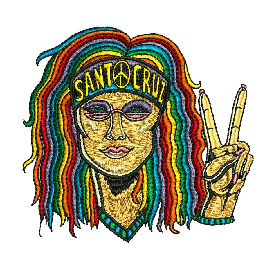 santa cruz patch hippie chick