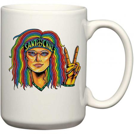 santa cruz hippie chick mug
