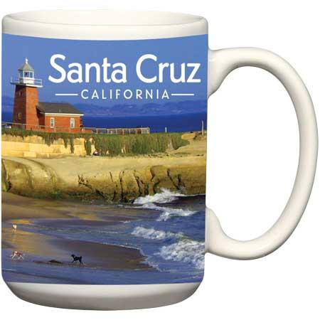 santa cruz lighthouse ceramic mug