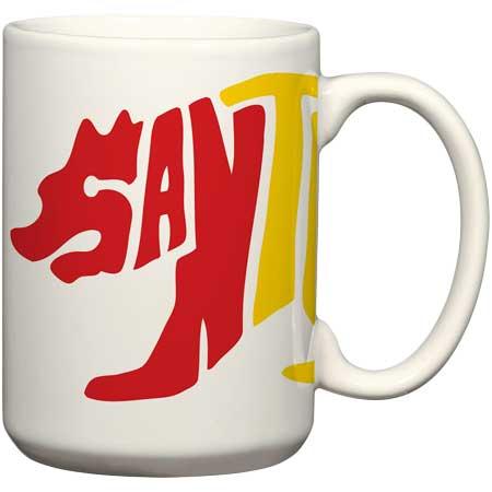 santa cruz rasta bear ceramic coffee mug