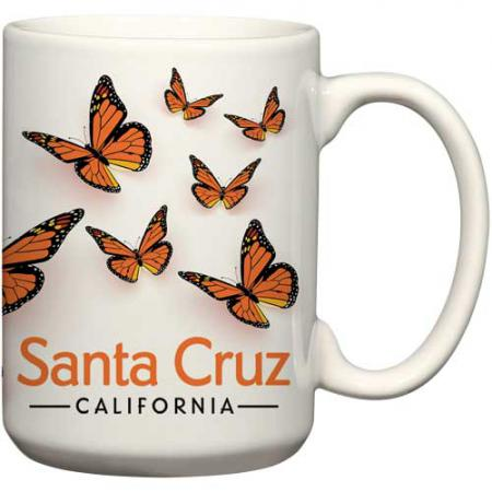 santa cruz monarch butterfly ceramic coffee mug