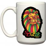 santa cruz mug rasta lion smoking