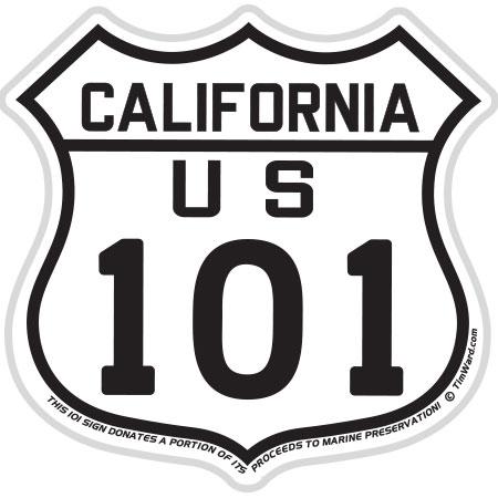 tim ward sticker decal us 101 california
