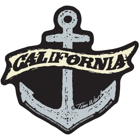 tim ward sticker decal anchor california