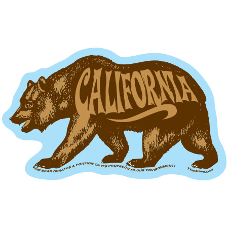 tim ward sticker decal bear california