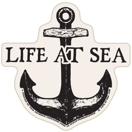 tim ward sticker decal santa cruz life at sea anchor