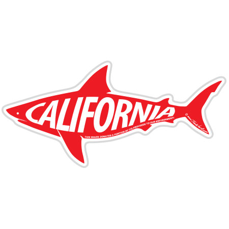 tim ward sticker decal shark california