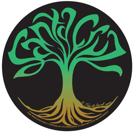 Santa Cruz Sticker Tim Ward Tree of Life