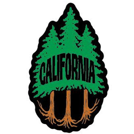 tim ward sticker decal redwood tree california