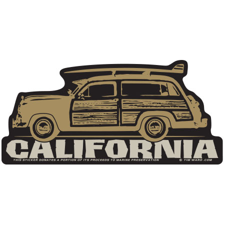 tim ward sticker decal california woodie