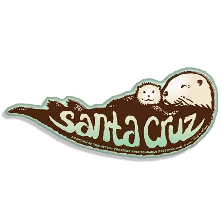 tim ward santa cruz sea otter magnet