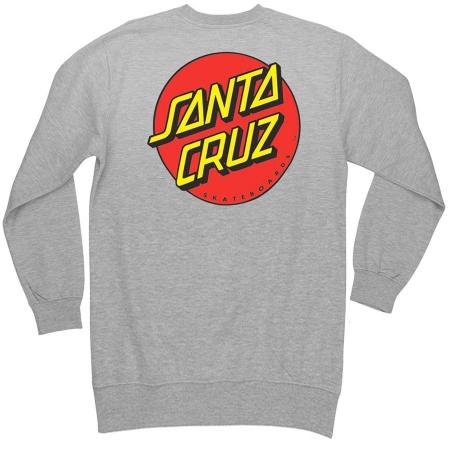 mens santa cruz sweatshirt crewneck grey