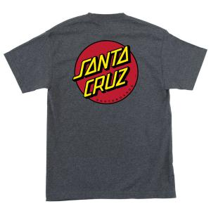 Santa Cruz Classic Dot Tshirt Charcoal Heather Grey