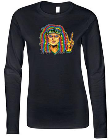 santa cruz hippie chick shirt