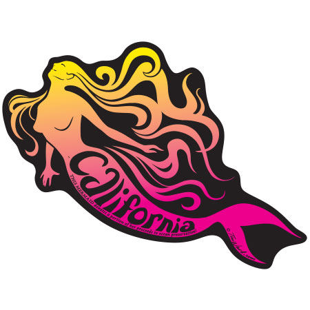 tim ward sticker decal mermaid california