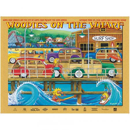 Woodies on the Wharf Poster 2016