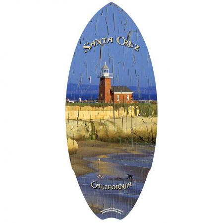 decorative mini wooden surfboard skimboard