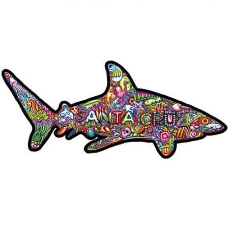 Santa Cruz sticker psy shark dustin graham