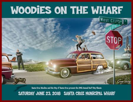 Santa Cruz Woodies on the Wharf 2018 Poster