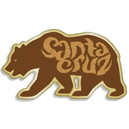 tim ward santa cruz bear pin
