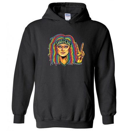 santa cruz hippie chic hoodie sweatshirt