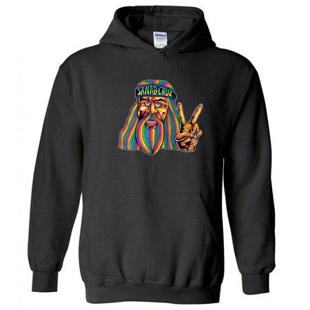 santa cruz hippie dude hoodie sweatshirt