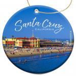 Santa Cruz Christmas Ornament