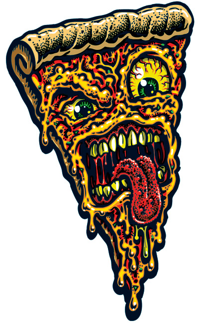 Decal Pizza Face Jimbo Phillips Sticker