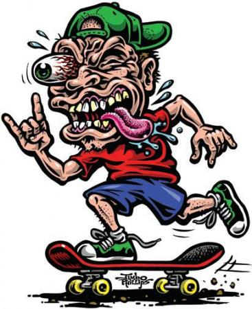 Decal skate freak jimbo phillips sticker