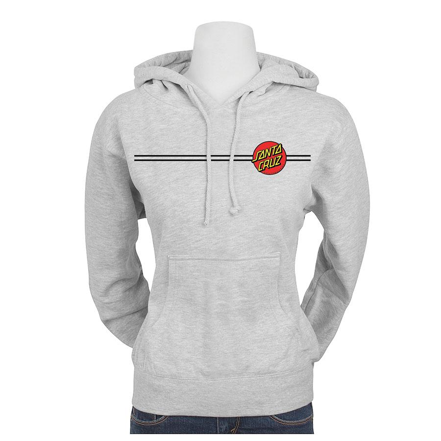 Womens Sweatshirt Pullover Santa Cruz Dot Heather Grey