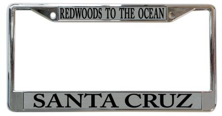 Santa Cruz License Plate Frames