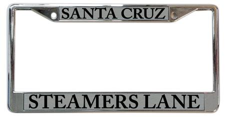 "santa cruz license plate frame ""Steamers Lane"""