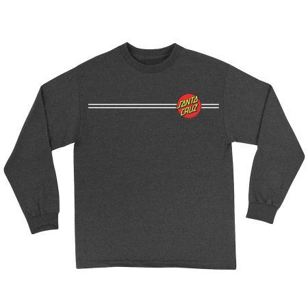 Santa Cruz Long Sleeve Shirt Charcoal Classic Dot