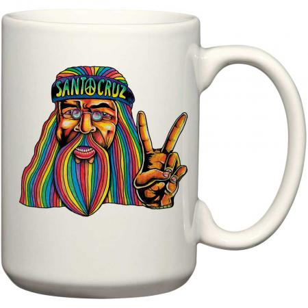 santa cruz hippie dude mug