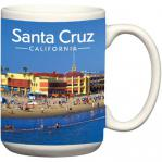 santa cruz beach boardwalk ceramic coffee mug