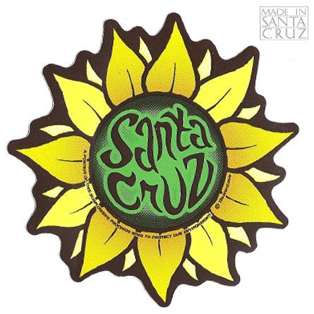 Decal Santa Cruz Sunflower Sticker By Tim Ward