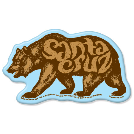 santa cruz bear magnet tim ward