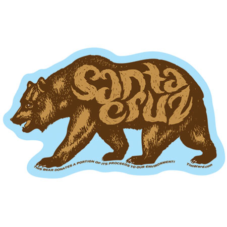 Santa Cruz Sticker Tim Ward Bear