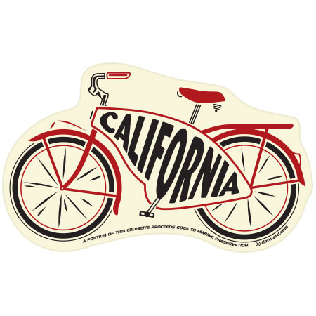 tim ward sticker decal bike cruiser california